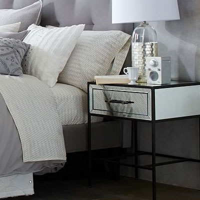 mirrored bed table