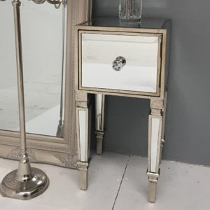 Glam 1 Drawer Bedside Table