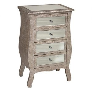 Tania 4 Drawer Bedside Table