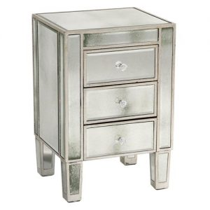 Venetian 3 Drawer Bedside Table